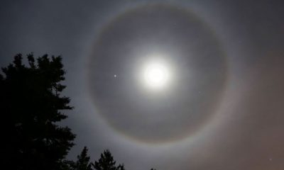 How does that ring visible around the moon