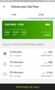 What is 5 ride Ola Pass Service for 8 km & How to it