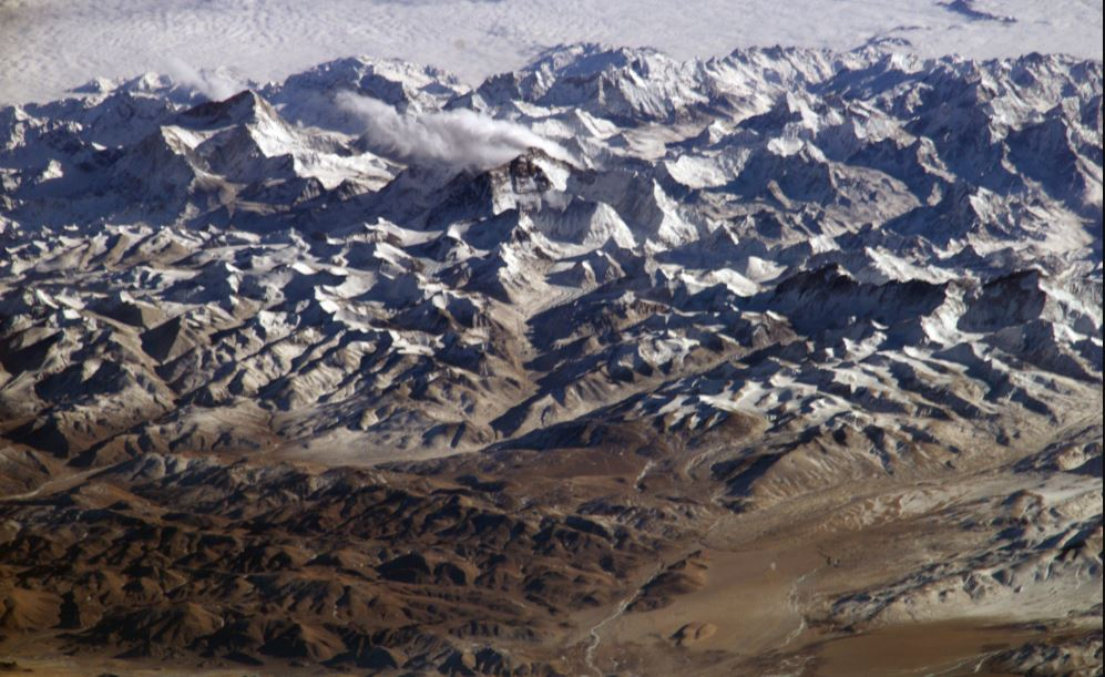 himalaya view from space
