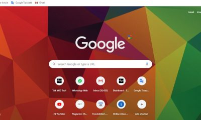 how to change google chrome's background image