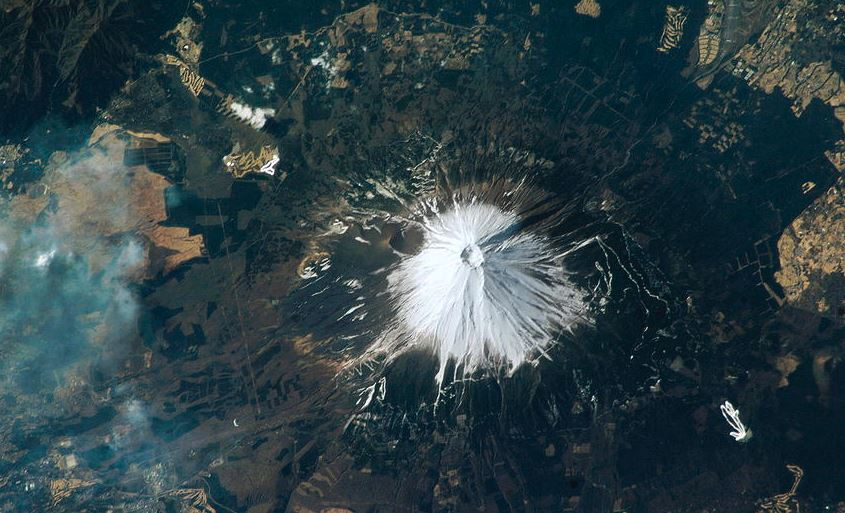 mont fuji from space