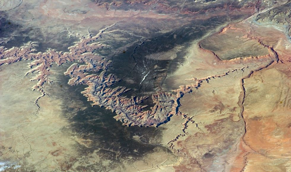 the great canyon from space